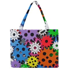 Colorful Toothed Wheels Mini Tote Bag by Nexatart