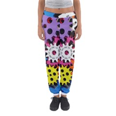 Colorful Toothed Wheels Women s Jogger Sweatpants