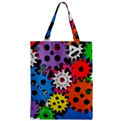 Colorful Toothed Wheels Zipper Classic Tote Bag by Nexatart