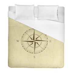 Compass Vintage South West East Duvet Cover (full/ Double Size) by Nexatart