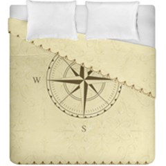 Compass Vintage South West East Duvet Cover Double Side (king Size)
