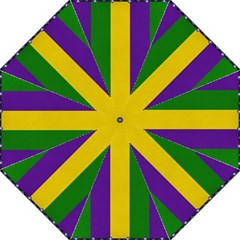 Mardi Gras Striped Pattern Straight Umbrellas by dflcprints