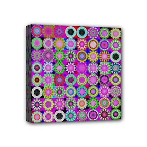 Design Circles Circular Background Mini Canvas 4  X 4  by Nexatart