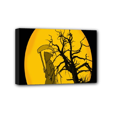 Death Haloween Background Card Mini Canvas 6  X 4  by Nexatart