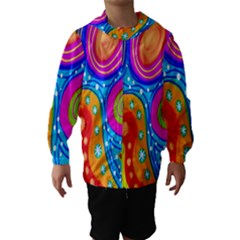 Doodle Pattern Hooded Wind Breaker (kids)