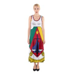 Coat Of Arms Of Cameroon Sleeveless Maxi Dress