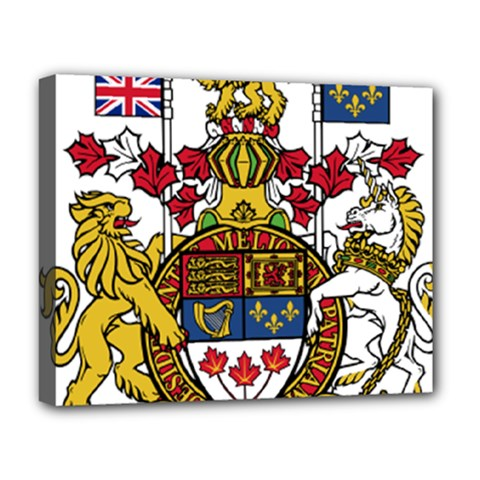 Coat Of Arms Of Canada  Deluxe Canvas 20  X 16   by abbeyz71