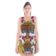 Coat Of Arms Of Canada  Scoop Neck Skater Dress