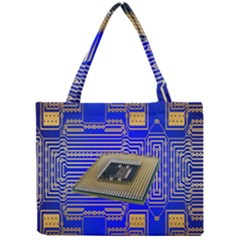 Processor Cpu Board Circuits Mini Tote Bag by Nexatart