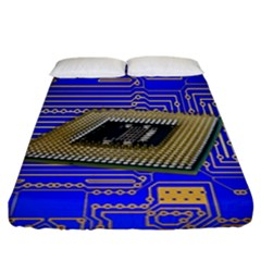 Processor Cpu Board Circuits Fitted Sheet (king Size)