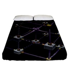 Grid Construction Structure Metal Fitted Sheet (queen Size) by Nexatart