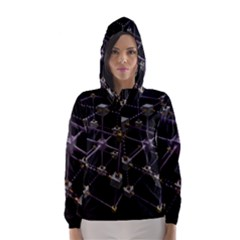 Grid Construction Structure Metal Hooded Wind Breaker (women)