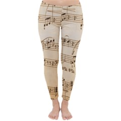Music Notes Background Classic Winter Leggings by Nexatart