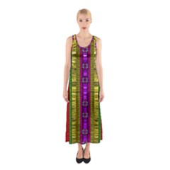 A Gift From The Rainbow In The Sky Sleeveless Maxi Dress