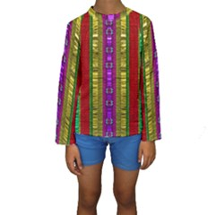 A Gift From The Rainbow In The Sky Kids  Long Sleeve Swimwear by pepitasart