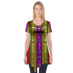 A Gift From The Rainbow In The Sky Short Sleeve Tunic  by pepitasart