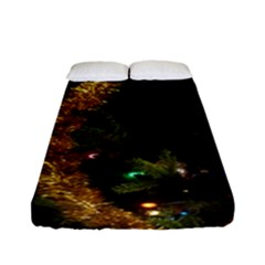 Night Xmas Decorations Lights  Fitted Sheet (full/ Double Size)