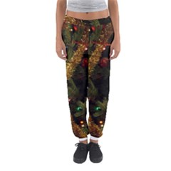 Night Xmas Decorations Lights  Women s Jogger Sweatpants