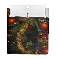 Night Xmas Decorations Lights  Duvet Cover Double Side (full/ Double Size) by Nexatart