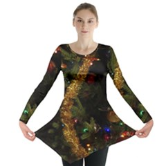 Night Xmas Decorations Lights  Long Sleeve Tunic