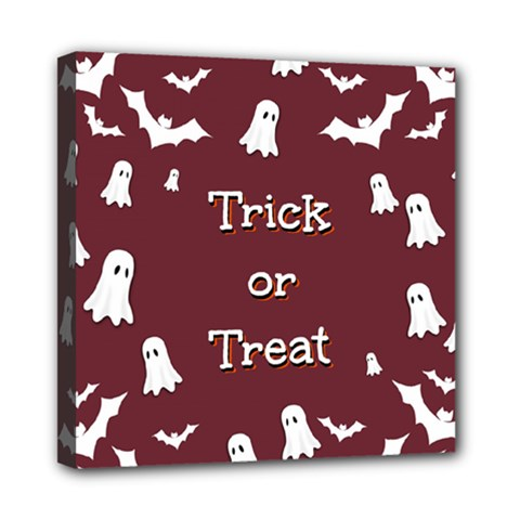 Halloween Free Card Trick Or Treat Mini Canvas 8  X 8  by Nexatart
