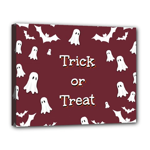Halloween Free Card Trick Or Treat Canvas 14  X 11  by Nexatart