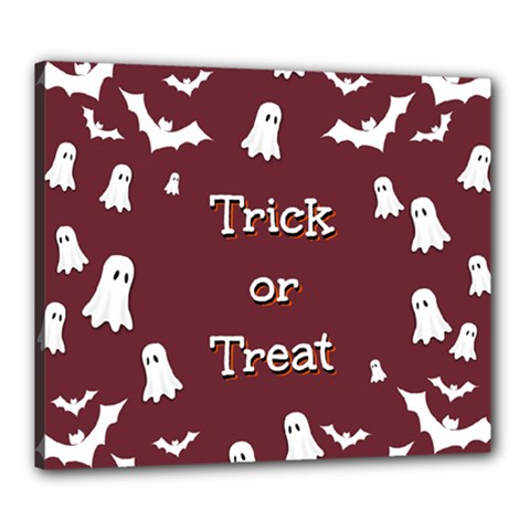 Halloween Free Card Trick Or Treat Canvas 24  X 20  by Nexatart
