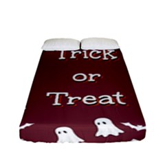 Halloween Free Card Trick Or Treat Fitted Sheet (full/ Double Size) by Nexatart