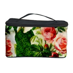 Floral Collage Cosmetic Storage Case by Nexatart