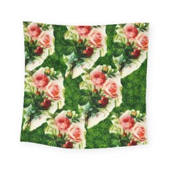 Floral Collage Square Tapestry (small)