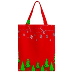 Merry Christmas Zipper Classic Tote Bag by Nexatart