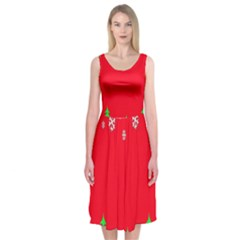 Merry Christmas Midi Sleeveless Dress