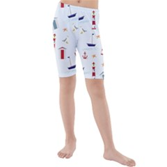 Seaside Beach Summer Wallpaper Kids  Mid Length Swim Shorts