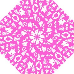 Pink Christmas Background Hook Handle Umbrellas (small)