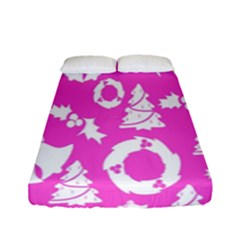Pink Christmas Background Fitted Sheet (full/ Double Size)