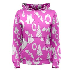 Pink Christmas Background Women s Pullover Hoodie