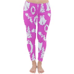 Pink Christmas Background Classic Winter Leggings