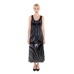 Fractal Mathematics Abstract Sleeveless Maxi Dress