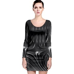 Fractal Mathematics Abstract Long Sleeve Bodycon Dress