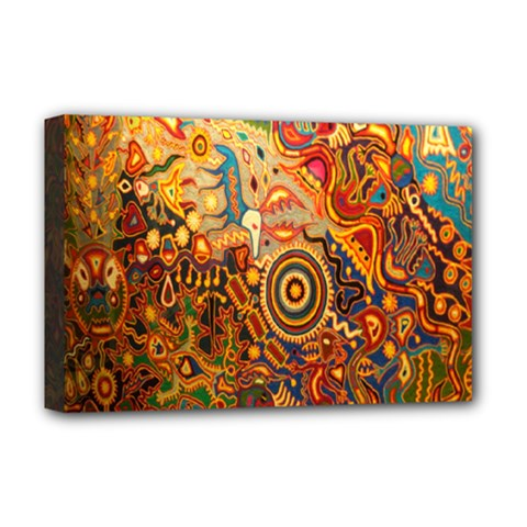 Ethnic Pattern Deluxe Canvas 18  X 12
