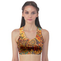Ethnic Pattern Sports Bra