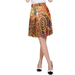 Ethnic Pattern A Line Skirt