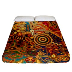 Ethnic Pattern Fitted Sheet (king Size)