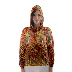 Ethnic Pattern Hooded Wind Breaker (women)
