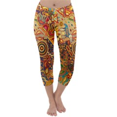 Ethnic Pattern Capri Winter Leggings