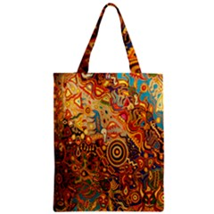 Ethnic Pattern Zipper Classic Tote Bag