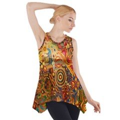 Ethnic Pattern Side Drop Tank Tunic
