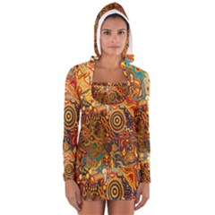 Ethnic Pattern Women s Long Sleeve Hooded T Shirt