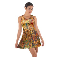 Ethnic Pattern Cotton Racerback Dress