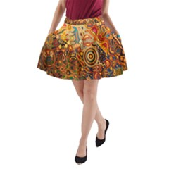 Ethnic Pattern A Line Pocket Skirt